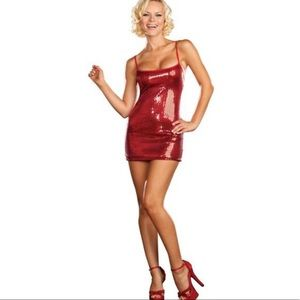 Dream girl sexy Red sequin dress Small
